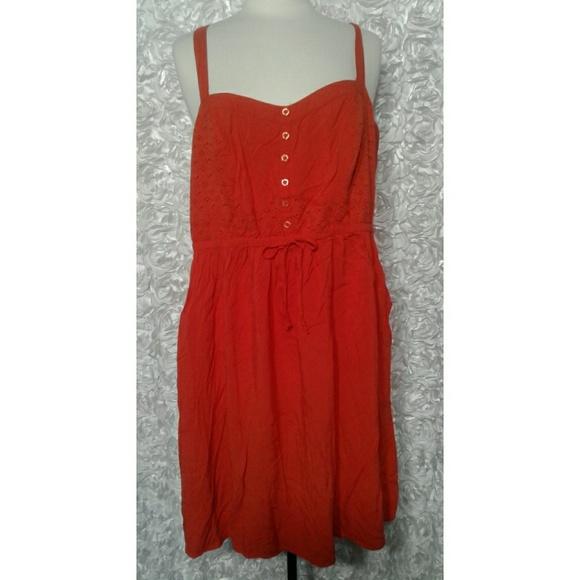 torrid Dresses & Skirts - Torrid Orange Spaghetti Strap Dress Size 3 - 3X